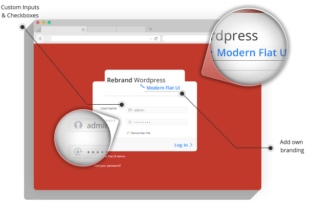 Rebrand WordPress Admin Theme - Modern Flat UI - 5