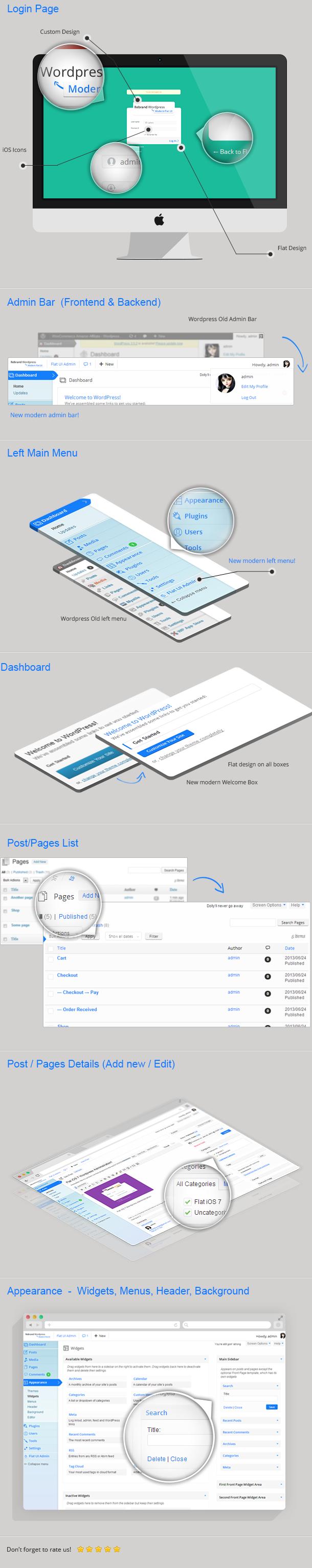 Rebrand WordPress Admin Theme - Modern Flat UI - 9