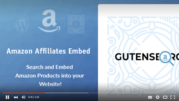 GutenSearch -  Amazon Affiliates Products Search and Embed - 6