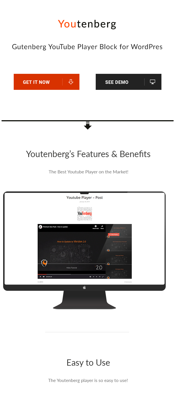 Youtenberg - Gutenberg YouTube Player with Playlist - 1