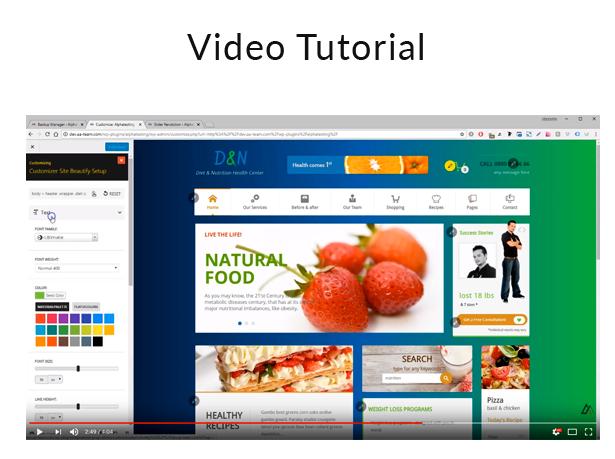 Diet & Nutrition Health Center - WordPress Theme - 3 diet & nutrition health center - wordpress theme - video - Diet & Nutrition Health Center – WordPress Theme