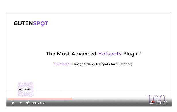 GutenSpot - Image Gallery Hotspots for Gutenberg - 4 GutenSpot - Image Gallery Hotspots for Gutenberg - video - GutenSpot – Image Gallery Hotspots for Gutenberg