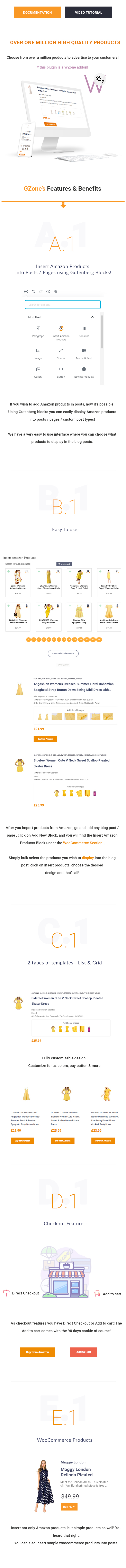 GZone - Insert Amazon / WooCommerce Products into Posts / Pages - 1