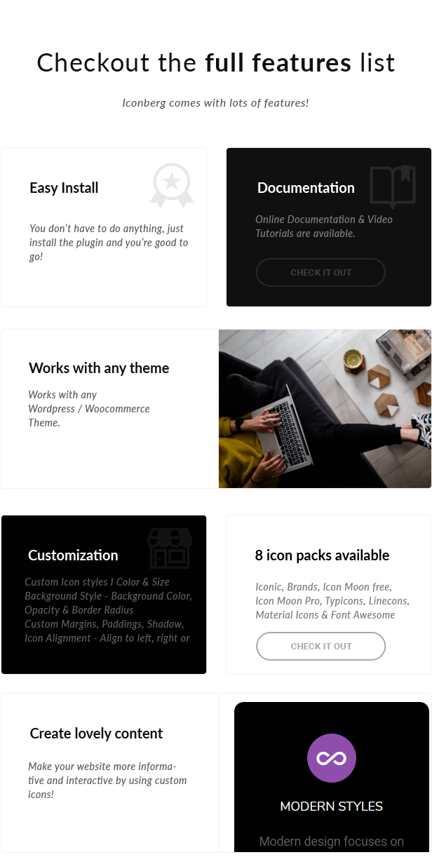 Pro Icons for Gutenberg WordPress Editor - 2 Pro Icons for Gutenberg WordPress Editor - iconbergfeatures - Pro Icons for Gutenberg WordPress Editor