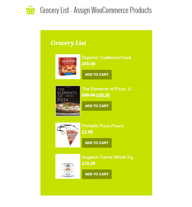 Le Chef - Premium Recipe Plugin - 4 Le Chef - Premium Recipe Plugin - grocerylist - Le Chef – Premium Recipe Plugin