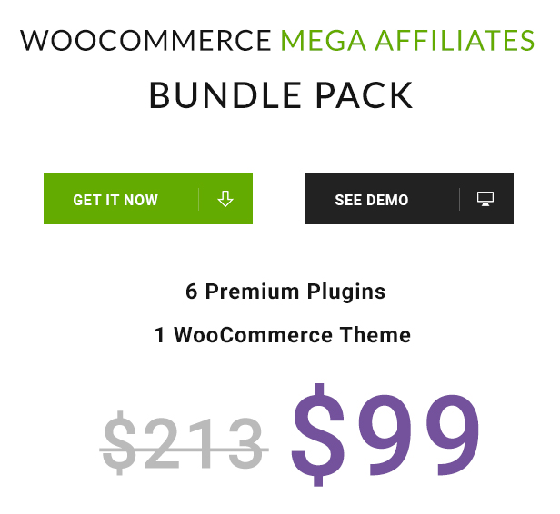 Woocommerce Mega Affiliates Bundle Pack - 1