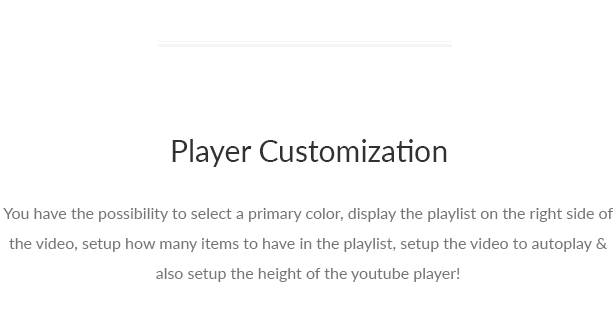 Youtenberg - Gutenberg YouTube Player with Playlist - 7 Youtenberg - Gutenberg YouTube Player with Playlist - player customization - Youtenberg – Gutenberg YouTube Player with Playlist